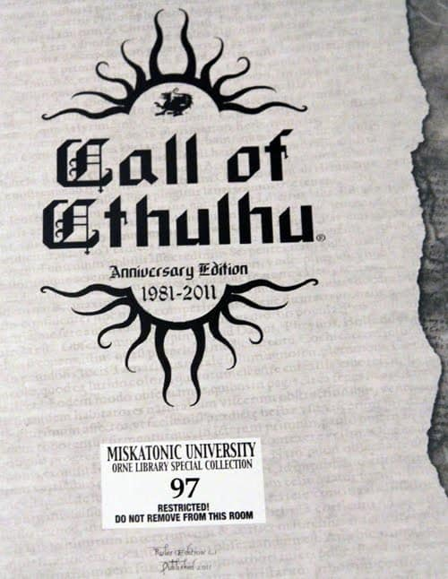 Call of Cthulhu 30th anniversary