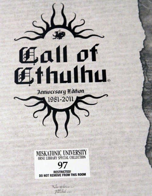 Call of Cthulhu 30th anniversary
