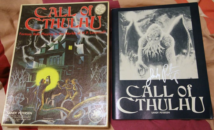 Call of Cthulhu 1st edition 2nd print - Signed by Sandy Petersen