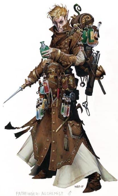 Pathfinder Iconic Alchemist Damiel
