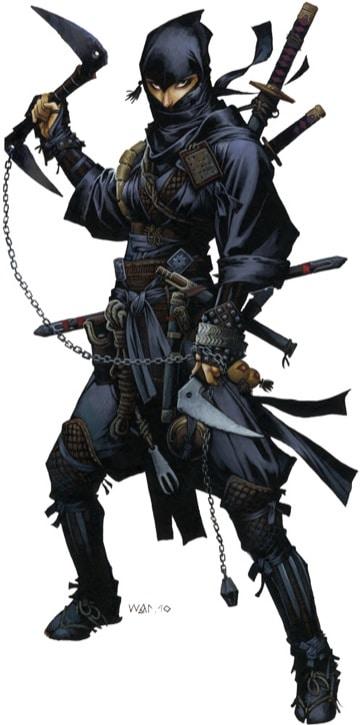 Pathfinder Iconic Ninja Reiko