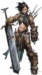 Pathfinder Iconic Barbarian Amiri