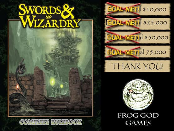 Swords & Wizardry kickstarter