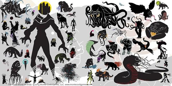Numenera Creature size comparison chart