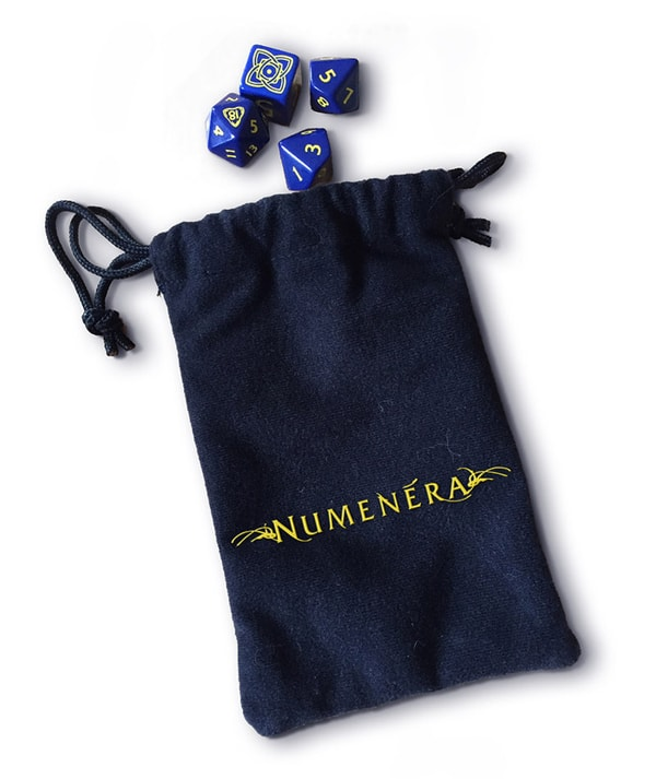 Numenera dice bag mock up