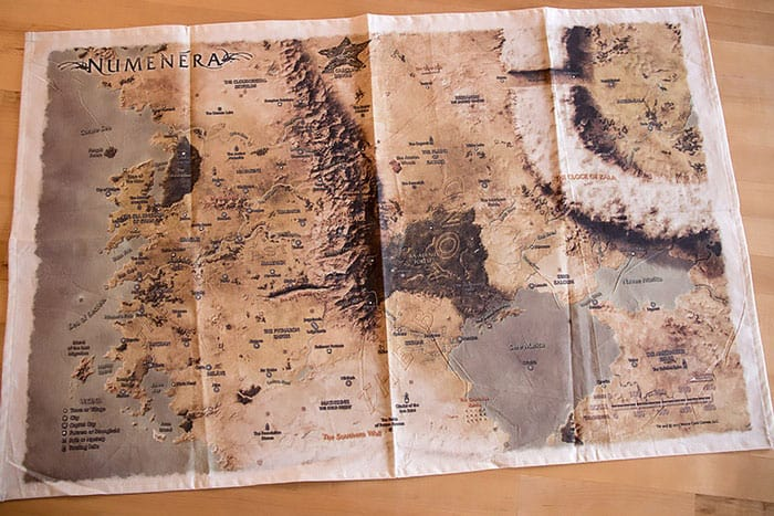 Numenera cloth map prototype