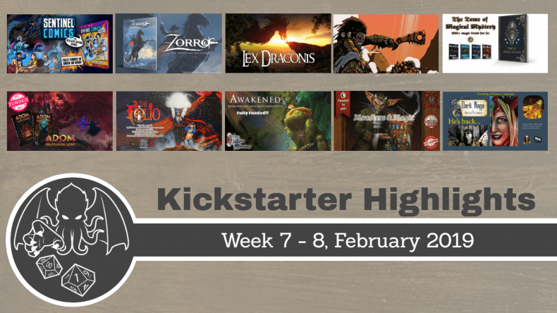 RPG highlights on Kickstarter WK 7 and 8