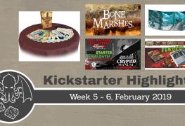 RPG Kickstarter Highlights WK 5 - 6; 2019