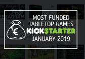 Most funded Tabletop Games kickstarters January 2019