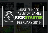 Most funded tabletop games kickstarter february 2019